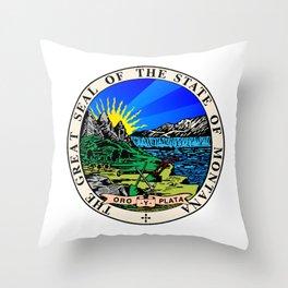 State Seal of Montana Throw Pillow