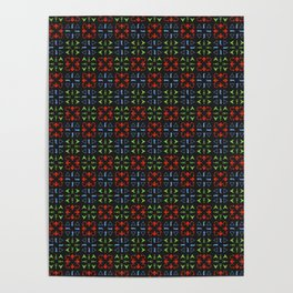 Arrows Pattern Color Poster