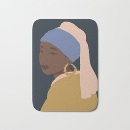 The Girl With A Bamboo Earring Bath Mat