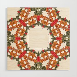 Embroidered Pattern Wood Wall Art