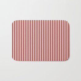 Aurora Red Stripes Bath Mat