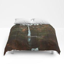 Autumn At Multnomah Falls Comforters