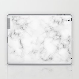 The Perfect Classic White with Grey Veins Marble Laptop & iPad Skin