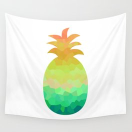 Low poly pineapple Wall Tapestry