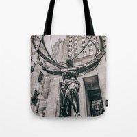 atlas Tote Bags featuring Atlas by JAY'S PICTURES