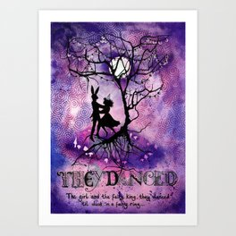 They Danced Art Print