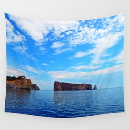 Perce Rock and Cliff Wall Tapestry