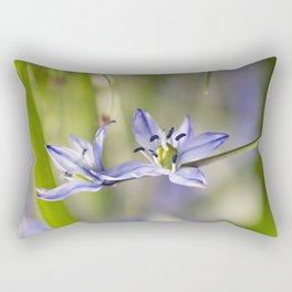 Une Fleur Bleue Rectangular Pillow