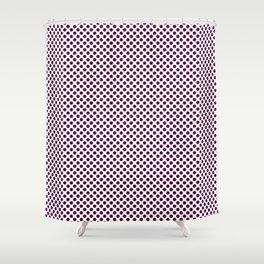 Blackberry Polka Dots Shower Curtain