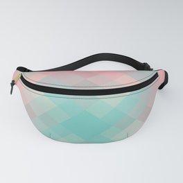 Gradient pixel design teal & pink Fanny Pack