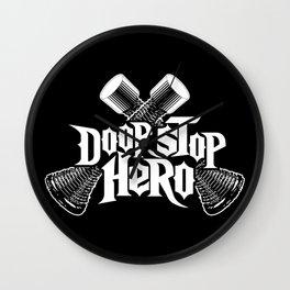 Door Stop Hero Wall Clock