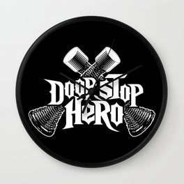 Door Stop Hero Wall Clock