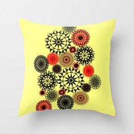 Black/Red Pattern Throw Pillow