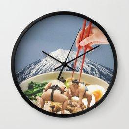 Fuji, Sumo, Ramen // Japan Love Wall Clock