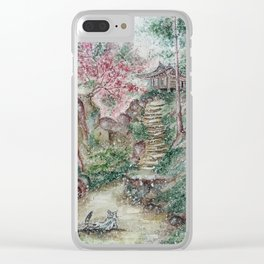 Old hanok (Watercolor painting) Clear iPhone Case