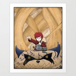 Sand Ninja Art Print
