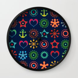Marine abstract ornament Wall Clock