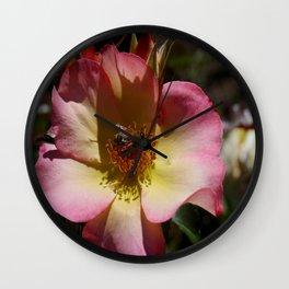 Beauty And Bee Wall Clock