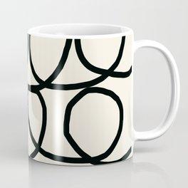 Loop Di Doo Cream & Black Coffee Mug