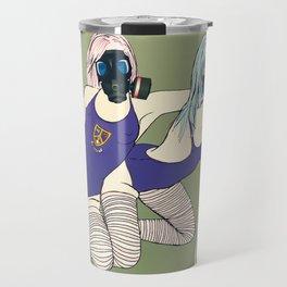 Swimsuit Gas Mask Girls Travel Mug