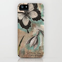 Botanical Collage  iPhone Case