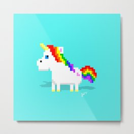 Sassy Unicorn Metal Print