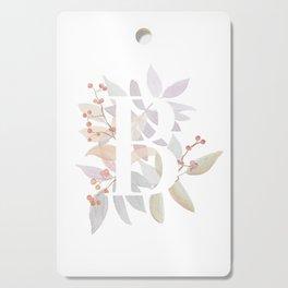 Rustic Floral Watercolor Monogram - Letter B Initial Cutting Board