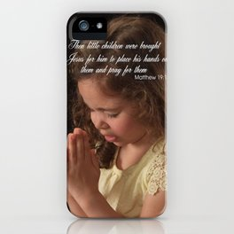 Matthew 19:13 iPhone Case