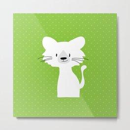 Green cat Metal Print