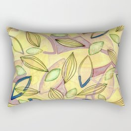 October Leaves with yellow purple pink blue and green Rectangular Pillow
