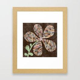 Organic Textured Large Flower in Earth Tones Framed Art Print