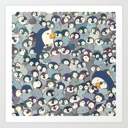 Baby Penguin Pattern Art Print