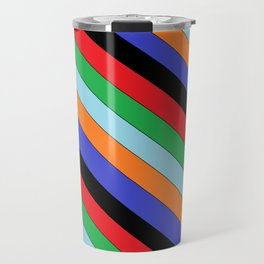 Slanted lines Travel Mug