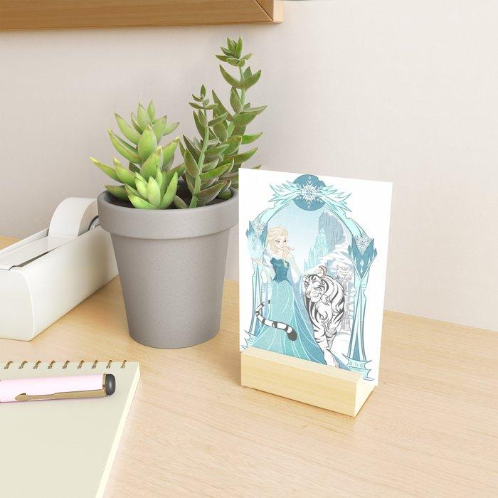 Frozen White Tiger Mini Art Print