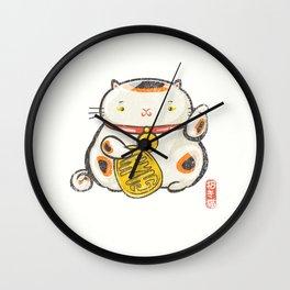 Maneki Neko [Special Lucky Toy Box] Wall Clock