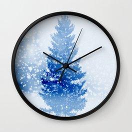 Let It Snow Tree Wall Clock