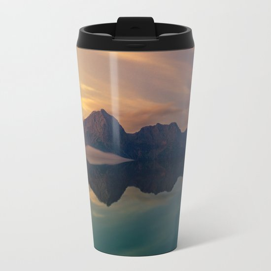 Fantasy mountain reflection Metal Travel Mug
