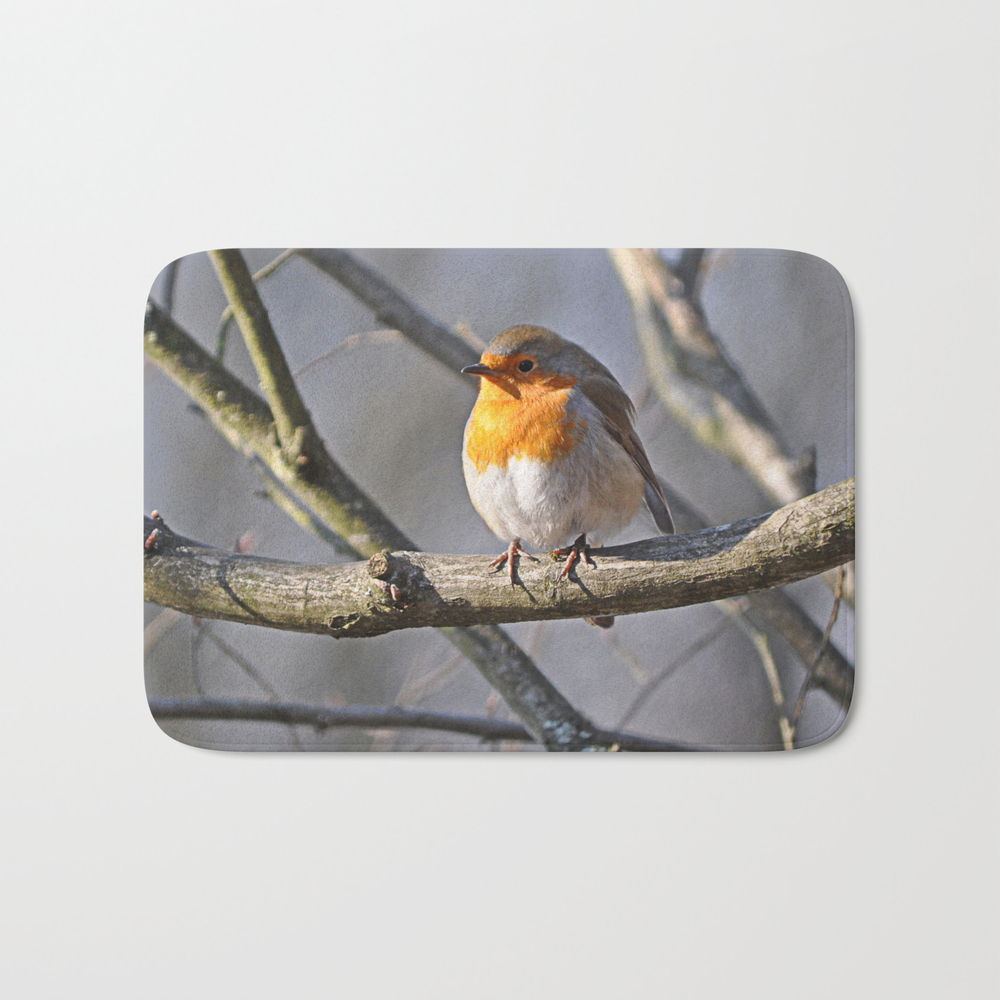 Robin Redbreast Bath Mat by Pirminnohr (BMT915575) photo