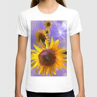 sunflower T-shirts featuring Sunflower4 by Regan's World