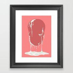 Calavera se derrite. Framed Art Print