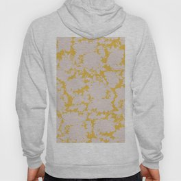 light floral silhouette on gold Hoody