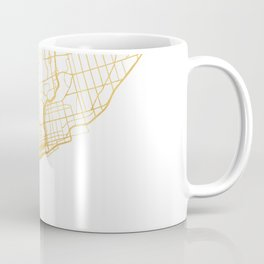 TORONTO CANADA CITY STREET MAP ART Coffee Mug