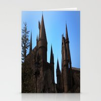 hogwarts Stationery Cards featuring Hogwarts by Blue Lightning Creative