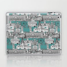 London toile blue Laptop & iPad Skin