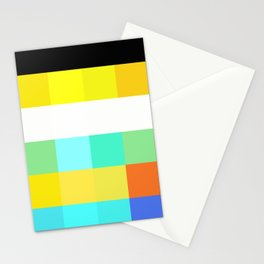Color Bars & Squares 2A Stationery Cards