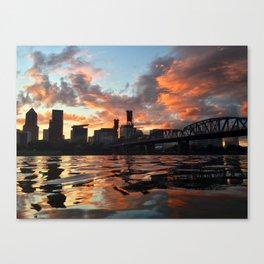 Willamette Sunset Canvas Print