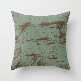cracked concrete vintage wall background,old wall Throw Pillow