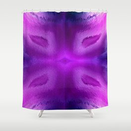 Agate Dreams in purple Shower Curtain
