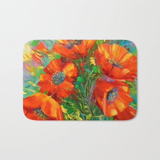 Poppies Bath Mat