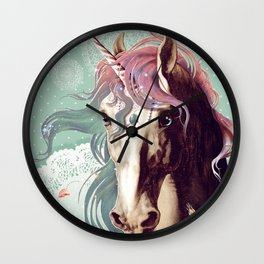 Unicorns live forever Wall Clock